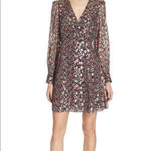 Kate Spade Long Sleeve FLORAL Park Clip Dot Dress